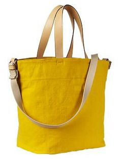 """Canvas tote at Gap. Dimensions look nice: 13"""" H, 17"""" W, 9"""" D."""