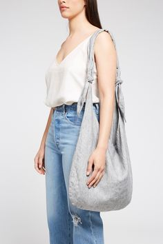 The Gina Linen Knot Bag will see you through your daily errands with it's simple, roomy design and lightweight linen fabric. Cotton Lining Online Purchase, Fabric Material, Linen Fabric, Accessories Shop, Bell Bottom Jeans, Knots, Simple, Cotton, Bags