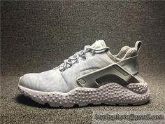 1bed66da08fff Nike Original Air Huarache Running Shoes Mesh Breathable 818061-100  White Silver.5