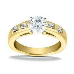 18K Yellow Gold Engagement Ring - Adair Jewelers ::