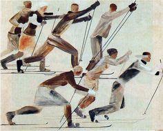 Лыжники 1931. Александр Дейнека (1899-1969)