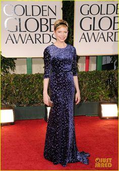 Michelle Williams, 2012 Golden Globes. Headband not my style but LOOOOOOOVE the Jason Wu gown! Such slouchy elegance!!!