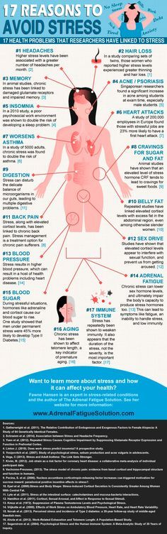 17 Reasons To Avoid Stress (Infographic)