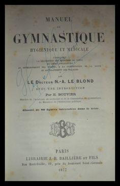 El Viejo Libro, Libreria Anticuaria, Edward Contreras Vergara, www.elviejolibro.tk: Manuel de Gymnastique. Le Blond.