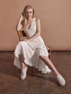 Dakota Fanning for Gabriela Hearst X Tod's collection