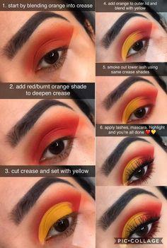 Yellow Eyeshadow, Eyeshadow Looks, Eye Makeup Designs, Makeup Ideas, Crazy Makeup, Makeup Looks, Flawless Makeup, Beauty Makeup, Smoke Eye Makeup