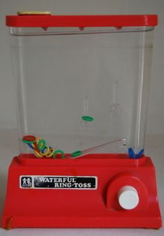 A crowning moment in my childhood was completing the TOMY Waterful Ring-Toss. Forgot all about these things. Apparently I've always loved Japanese design.