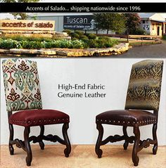 NEW 2017 Leather Dining Chairs at Accents of Salado