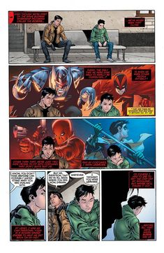 Part 2: Big brother Jason finally stepping up and acting like a brother {Red Hood and the Outlaws #17 }  [Jason Todd & Damian Wayne]