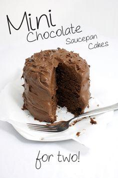 Mini Chocolate Saucepan Cakes For Two