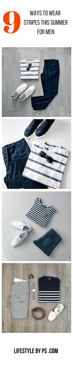How to wear stripes for men. #mens #fashion #outfit #grids