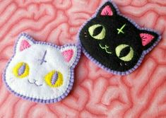 Your place to buy and sell all things handmade Felt Diy, Felt Crafts, Fabric Crafts, Sewing Crafts, Diy And Crafts, Sewing Projects, Arts And Crafts, Embroidery Patches, Cross Stitch Embroidery