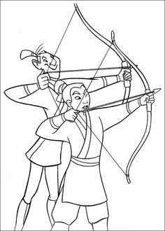 Mulan Fargelegging for barn. Tegninger for utskrift og fargelegging nº 4