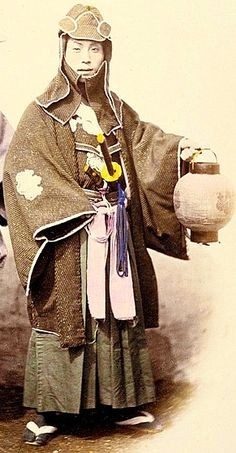 Samurai in fire dress, circa 1865, wearing the traditional indigo tabi socks of the samurai firefighter. (Photo by Felice Beato)