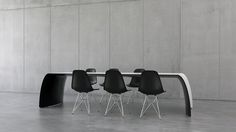 FLOYD is a diningtable or desk made of carbon fiber, Kevlar, structural foam and stainless steel. Furniture Making, Carbon Fiber, Furniture Design, Desk, Steel, Chair, Top, Home Decor, Carbon Fiber Spoiler