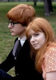 Jane Asher and her brother, Peter.  Peter also was a member of a popular 60's singing duo called Peter and Gordon.  The Beatles wrote some songs for Jane's brother which were hits in the 60's for the duo.