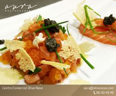 Tartar de salmón - Salmon Tartar.