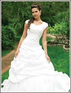 #wedding #dress #sleeves #modest #mormon #ruched