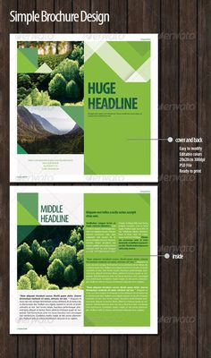 Simple Brochure Design — Photoshop PSD #print #brochure • Available here → https://graphicriver.net/item/simple-brochure-design/4374329?ref=pxcr