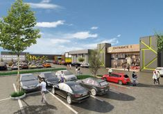 Refurbished shopping centre Fairland Walk. Architectural Services, Civil Engineering, Shopping Center, Lodges, Centre, Retail, Architecture, Arquitetura, Cabins