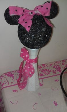 """Photo 4 of Pink Minnie Mouse Party / Birthday """"E's Third Birthday"""" Minnie Mouse Decorations, Minnie Mouse Theme Party, Minnie Mouse Baby Shower, Mickey Party, Mouse Parties, Third Birthday, Baby Birthday, 1st Birthday Parties, Birthday Party Decorations"""