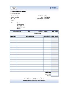 Sales Invoice Template For Excel Picture | Projects to Try ...
