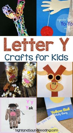 Letter Y Crafts Letter Y Crafts for preschool or kindergarten - Fun, easy and educational! Students will have fun learning and making these fun crafts! Alphabet Letter Crafts, Abc Crafts, Preschool Letters, Preschool Learning Activities, Alphabet Activities, Fun Learning, Kids Letters, Teaching Letters, Preschool Curriculum