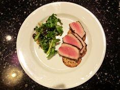 Yellowfin Tuna Carpaccio And Arugula Salad via healthyfoodietravels.net