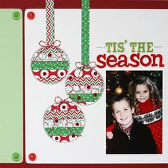 CHA Summer 2012 - Queen & Co Christmas Washi Tape Layout