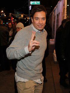 Jimmy Fallon Crewneck Sweater - Jimmy Fallon Looks - StyleBistro