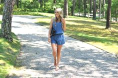 Chambray Romper | www.missbethanykate.com