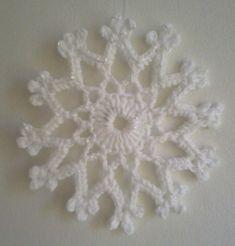 Virkad snöflinga! | Snowflake crocheted in white cotton yarn… | Flickr