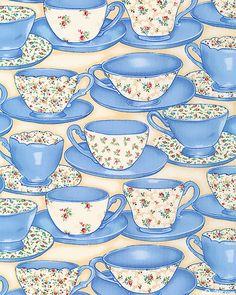 blue teacups