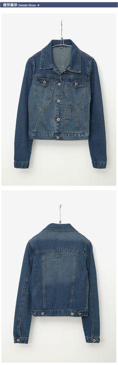 Nueva moda de otoño corta delgada salvaje agujero Jeans chaquetas abrigo de un solo pecho de mezclilla ropa de abrigo para mujer talla S ~ XL en Chaquetas Básicas de Moda y Complementos Mujer en AliExpress.com | Alibaba Group