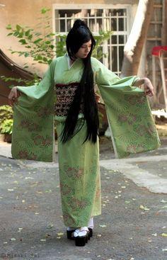 Green Kimono by Kutty-Sark.deviantart.com on @deviantART