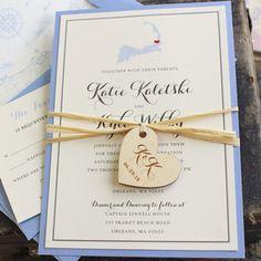 State Love Wedding Invitation (Massachusetts)