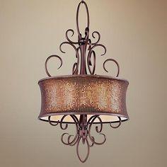 "Maxim Alexander 22"" Wide Umber Bronze Pendant Light"