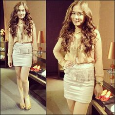 Outfit for work Via Maja Salvador Maja Salvador, Emma Watson Legs, Filipina Actress, Film Academy, Celebs, Celebrities, Best Actress, Office Outfits, Leather Skirt