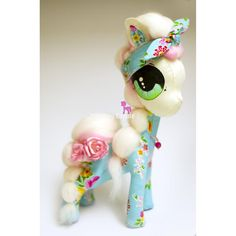 $0.00 Happyland Pony Large Fabric Sculpture Marlibug Cuppie by MarlibugCuppie on Handmade Australia