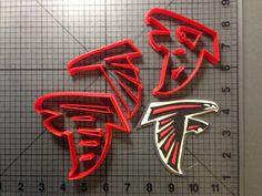 Fondant /& Biscuit Atlanta Falcons NFL Cookie Cutter 3 Sizes Instagram