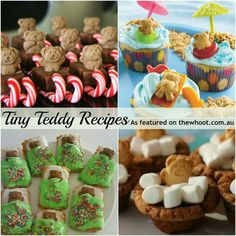 Tiny teddy ideas Fun Snacks For Kids, Kids Meals, Oreos On A Stick, Baby Food Recipes, Snack Recipes, Cake Stall, Tiny Teddies, Food Stall, Baking With Kids