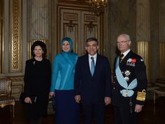 STATE VİSİT FROM TURKEY TO SWEDEN -DAY 1  Official  welcome ceremony for President Abdullah Gül and his wife  Hayrünnisa Gül by King Carl  Gustaf and Queen Silvia