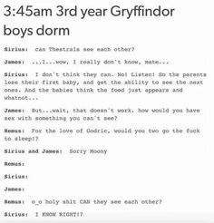 Funny things to think about harry potter 35 Trendy Ideas Harry Potter Marauders, Harry Potter Jokes, Harry Potter Fandom, Harry Potter Universal, Harry Potter World, The Marauders, Drarry, Dramione, No Muggles