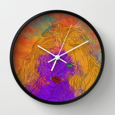 Purple Woman Wall Clock