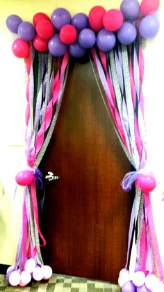 Birthday celebrations at the office...decorate a fellow employee's door!  The Bohemian Birthday Room