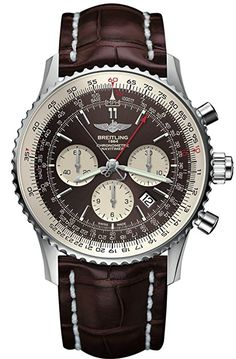 BREITLING Navitimer Rattrapante stainless steel and leather chronograph watch Breitling Navitimer, Breitling Superocean Heritage, Breitling Colt, Breitling Watches, Cool Watches, Watches For Men, Stylish Watches, Watch Complications, Limited Edition Watches