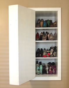 Hidden shoe storage dilettante | doyenne & vertical_storage 01... | Design ideas | Pinterest | Vertical storage ...