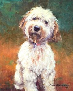 "Custom Pet Portrait Dog Painting Cat Pet 10 x 8"" Original Oil Painting by KimStenbergFineArt, $150.00"