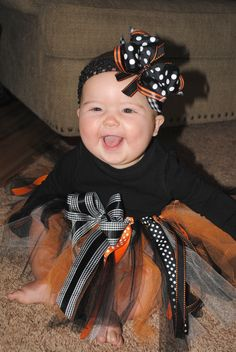 Baby halloween tutu and bow