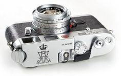Top plate with various camera features on a LEICA M6 Royal Wedding Edition, 1995